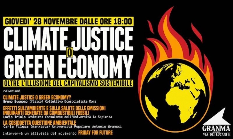 Climate justice o Green economy?